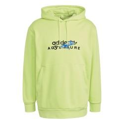 Adidas Adventure Hoodie Férfi Pulóver (Világoszöld) GN2344