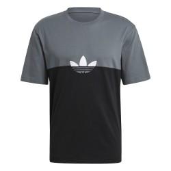 Adidas Originals Adicolor Sliced Trefoil Boxy Tee Férfi Póló (Fekete-Szürke-Fehér) GN3504