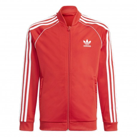 Adidas Originals Adicolor SST Track Top Uniszex Gyerek Pulóver (Piros-Fehér) GN8449