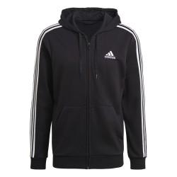 Adidas Essential Full Zip Hoodie Férfi Pulóver (Fekete-Fehér) GK9032