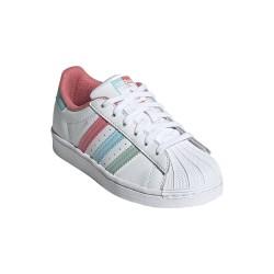 Adidas Originals Superstar C Kislány Cipő (Fehér-Rózsaszín-Kék) FZ0651