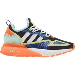 Adidas Originals ZX 2K Boost Uniszex Gyerek Cipő (Fekete-Narancssárga-Kék) FX6530