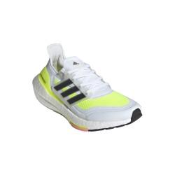 Adidas Ultraboost 21 Női Futócipő (Fehér-Neonsárga-Fekete) FY0401