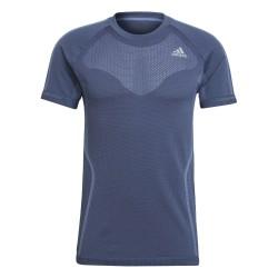 Adidas Primeknit Tee Férfi Futó Póló (Kék) GK3766