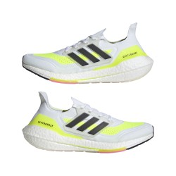 Adidas Ultraboost 21 Férfi Cipő (Fehér-Színes) FY0377