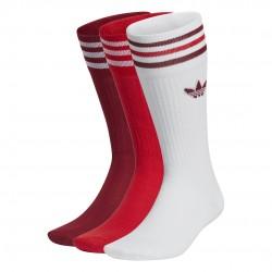 Adidas Originals Solid Crew 3 Páras Zokni Csomag (Bordó-Piros-Fehér) GN3073