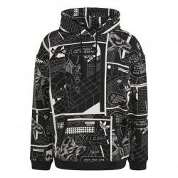 Adidas Originals R.Y.V. Graphic Hoodie Férfi Pulóver (Fekete) GN3345