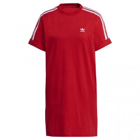 adidas Originals Adicolor Classics Roll-Up Sleeve Tee Dress (Piros) GN2778