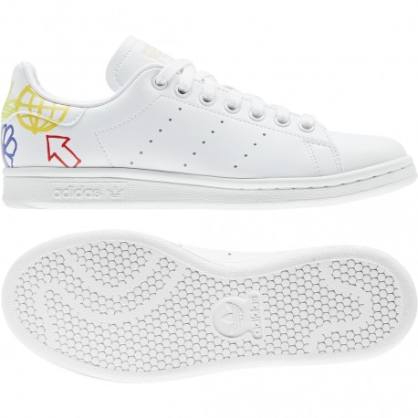 Adidas Originals Stan Smith Női Virágmintás Cipő (Fehér) FX5679