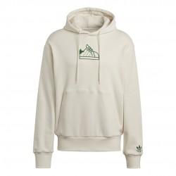 Adidas Originals Stan Smith Férfi Kapucnis Pulóver (Fehér-Zöld) GQ8875
