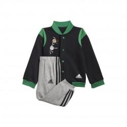 Adidas Collegiate Mix Bébi Melegítő Együttes (Fekete-Szürke) GM8951