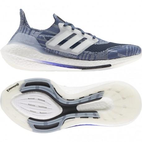 Adidas Ultraboost 21 Primeblue Férfi Cipő (Kék-Fehér) FX7729