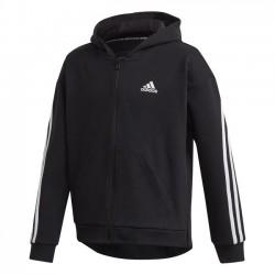 Adidas 3 Stripes Zipzáras Gyerek Pulóver (Fekete-Fehér) GE0950