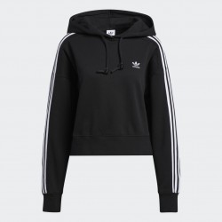 Adidas Classics Crop Női kapucnis Pulóver (Fekete-Fehér) GN2890