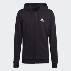 Adidas Big Logo Full-Zip Kapucnis Férfi Pulóver (Fekete) c