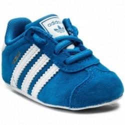Adidas Originals Gazelle Crib Shoes Bébi Kisfiú Kocsicipő (Kék-Fehér) CM8229