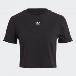 Adidas Originals Roll-Up Sleeve Crop Női Top (Fekete) GN2802