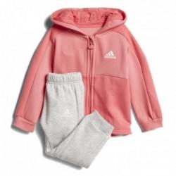 Adidas Linear Hoodie Fleece Jogger Kislány Bébi Melegítő Együttes (Rózsaszín-Szürke) CF7405