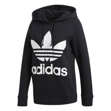 440cd14b449a Adidas Originals Trefoil Logo Hoodie Női Pulóver (Fekete-Fehér) CE2408