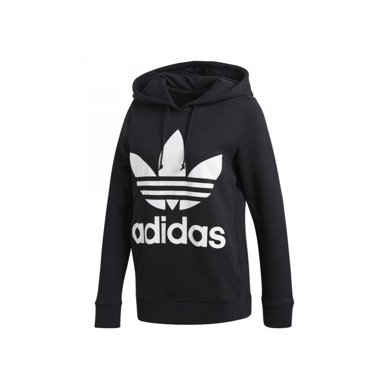 Adidas Originals Trefoil Logo Hoodie Női Pulóver (Fekete Fehér) CE2408