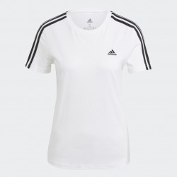 Adidas LOUNGEWEAR Essentials Slim Női Póló (Fehér-Fekete) GL0783