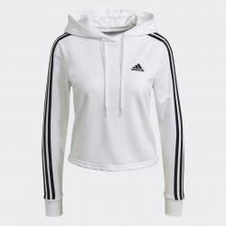 Adidas Essentials 3-Stripes Női Pulóver (Fehér-Fekete) GM5574
