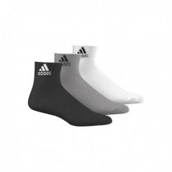 Adidas Performance Ankle Thin 3PP 3 Páras Zokni (Fekete-Szürke-Fehér) AA2322