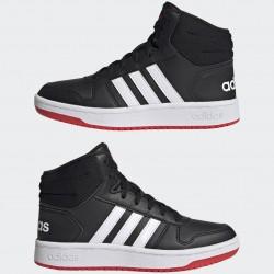 Adidas Hoops 2.0 Mid Magasszárú Gyerek Cipő (Fekete-Fehér) FY7009