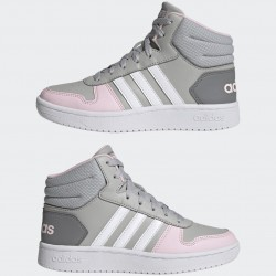 Adidas Hoops 2.0 Mid Magasszárú Gyerek Cipő (Szürke-Pink) GZ7772
