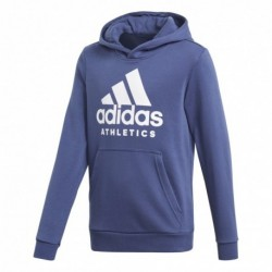 Adidas Sport ID Hoodie Fiú Gyerek Pulóver (Kék-Fehér) CF6439