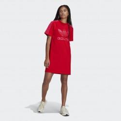 Adidas Originals Marimekko Trefoil Print Infill Női Póló Ruha (Pink-Piros) H20486