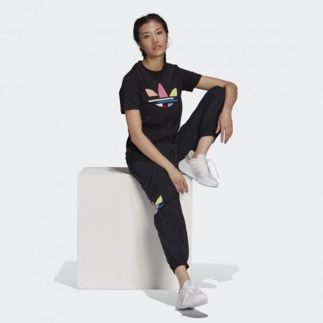 Adidas Originals Shattered Trefoil Női Póló (Fekete-Színes) H22859