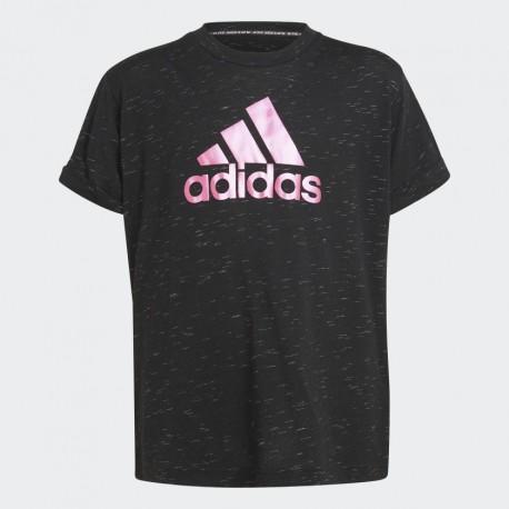 Adidas Future Icons Gyerek Póló (Fekete-Pink) H26592