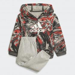 Adidas Jogger Bébi Melegítő Együttes (Szürke-Piros) H28839