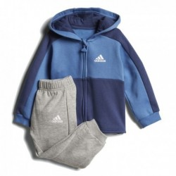 Adidas Linear Hoodie Fleece Jogger Kisfiú Bébi Melegítő Együttes (Kék-Szürke) CF7404