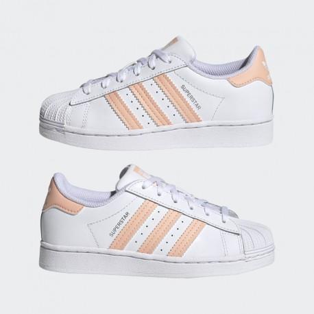 Adidas Originals Superstar Gyerek Cipő (Fehér-Lazac) GZ2885