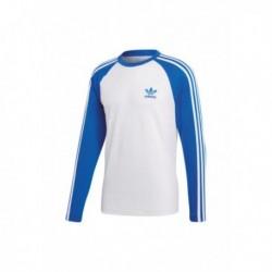 Adidas Originals 3 Stripes Tee Férfi Pulóver (Kék-Fehér) CW1229