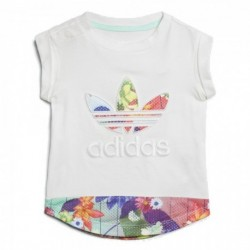 Adidas Originals T-Shirt Kislány Bébi Felső (Fehér-Színes) CE4360