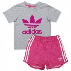 Adidas Originals I FT Short Tee Kislány Bébi Nyári Együttes (Szürke-Rózsaszín) BK4635