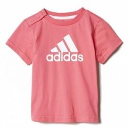 Adidas Performance Favorite Tee Kislány Bébi Póló (Rózsaszín-Fehér) CE9473