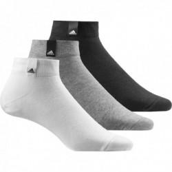 Adidas Performance No-Show 3 Páras Titokzokni Csomag (Fekete-Szürke-Fehér) AA2313