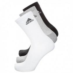 Adidas 3 Stripes 3 Páras Zokni Csomag (Fekete-Fehér-Szürke) AA2299