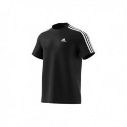 Adidas Essentials 3 Stripes Férfi Póló (Fekete-Fehér) S98717