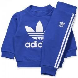 Adidas Originals Trefoil Crew Set Kisfiú Bébi Melegítő Együttes (Kék-Fehér) CE1159
