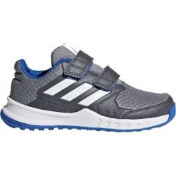 Adidas FortaGym CF K Fiú Gyerek Cipő (Szürke-Kék-Fehér) DA8680