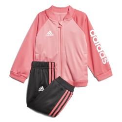 Adidas Shiny Track Suit Kislány Bébi Melegítő Együttes (Rózsaszín-Fekete-Fehér) CF7392