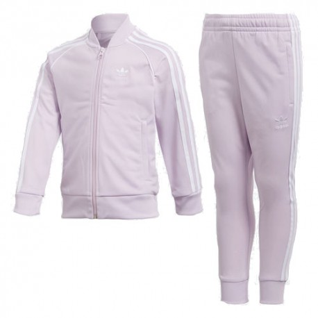 e49e04786a Adidas Originals Trefoil SST Track Suit Lány Gyerek Melegítő Együttes  (Rózsaszín) CD8441
