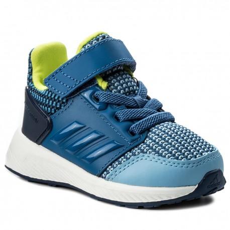 Adidas RapidaRun EL I Fiú Gyerek Cipő (Kék-Sárga) CQ0140 90598a08dc