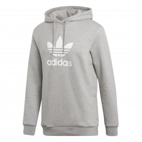 Adidas Originals Trefoil Hoodie Férfi Pulóver (Szürke-Fehér) CY4572 54e3fe6b39