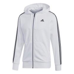Adidas Essentials 3 Stripes Hoodie Férfi Felső (Fehér-Fekete) CE1920